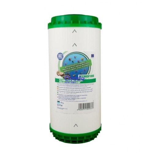 Картридж вугільний із засипкою KDF Big Blue 10 Aquafilter FCCBKDF10BB