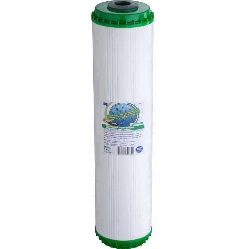 Картридж вугільний із засипкою KDF Big Blue 20 Aquafilter FCCBKDF20BB