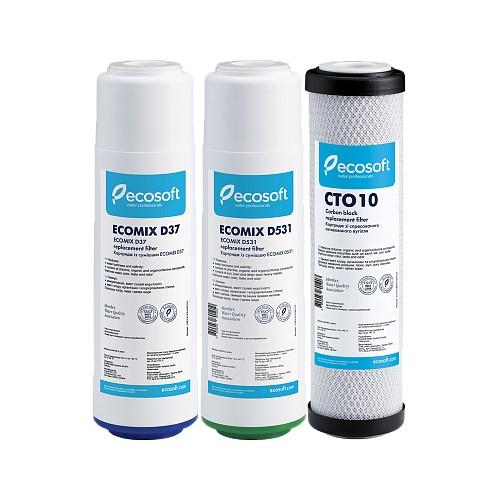 Покращений комплект картриджів Ecosoft CRV3ECO для проточних фільтрів