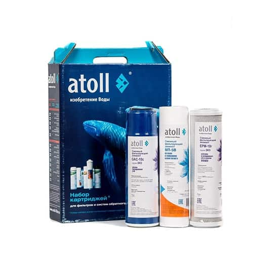 Комплект картриджей Atoll 203 ECO