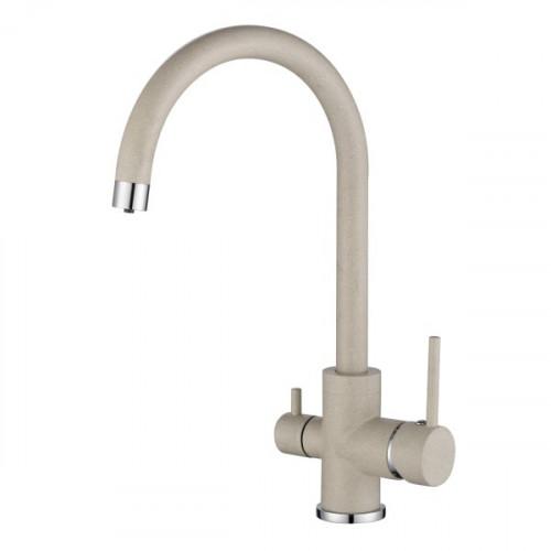 Трёхпозиционный кран-смеситель AquaSanita Sabiaduo 2963-111 Слоновая Кость (Silica)