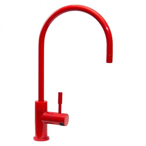 Кран на одну ручку Новая Вода NCPS88 Красный