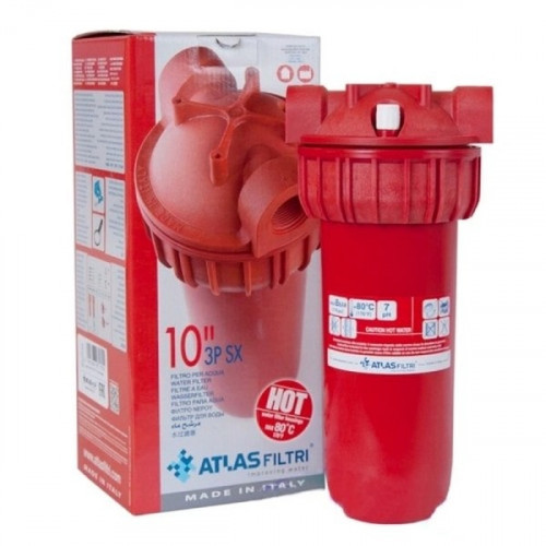 "Корпус фільтра для гарячої води Atlas Senior Plus HOT 3P-AFP SX-AB, Ø3/4"" KIT"