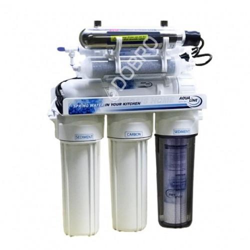 Фильтр обратного осмоса Aqualine RO-8 bio UV