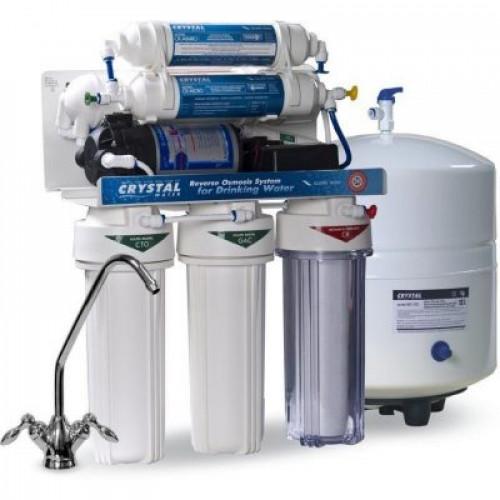 Фильтр обратного осмоса Crystal CFRO-550MP с минерализатором и насосом