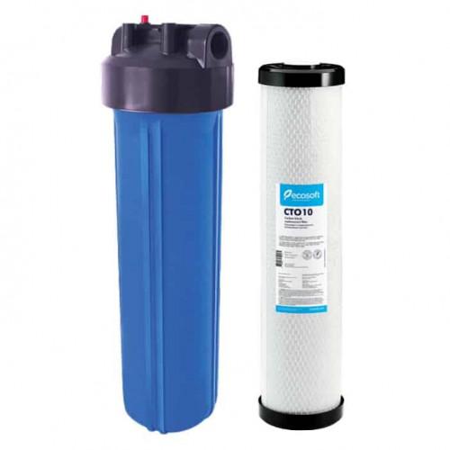 Фильтр Ecosoft типа Big Blue 20 с угольным CTO 10 картриджем в комплекте