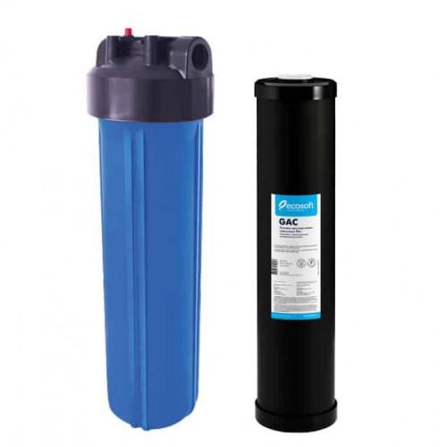 Фильтр Ecosoft типа Big Blue 20 с угольным GAC картриджем в комплекте