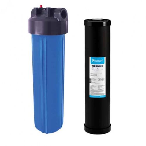 Фильтр типа Big Blue 20 Ecosoft с обезжелезивающим картриджем в комплекте