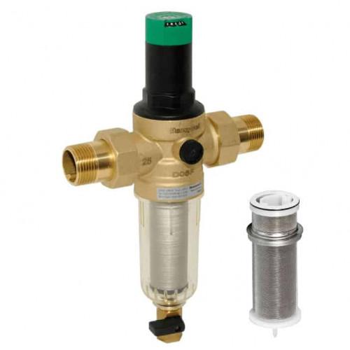 Механический фильтр для холодной воды  HoneyWell FK06-3/4AA с редуктором