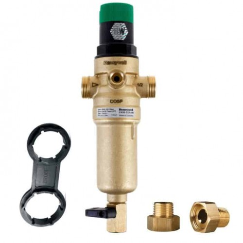 Механический фильтр для горячей воды  HoneyWell FK06-1/2AAM с редуктором