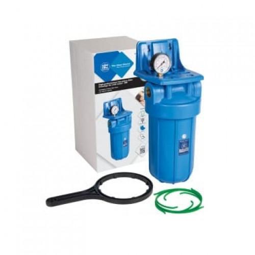 Фильтр типа Big Blue 10 Aquafilter FH10B1-B-WB  без картриджа, с манометром