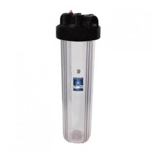 Прозрачный корпус фильтра типа Big Blue 20 Aquafilter FHBC20BB1/WF20BB1-CL без ключа и пластины