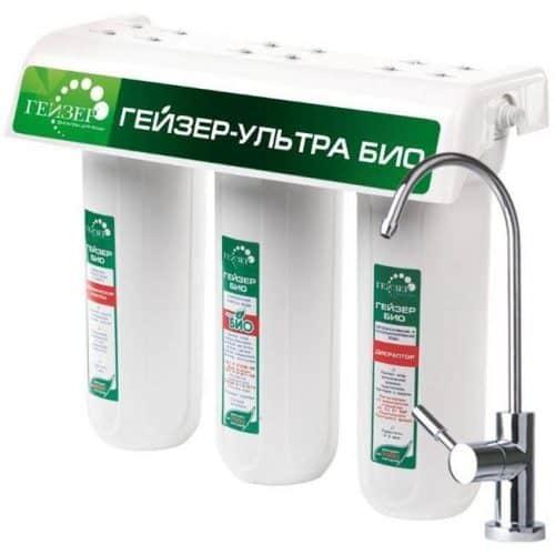 Фильтр  проточного типа Гейзер Ультра Био 431 для жесткой воды