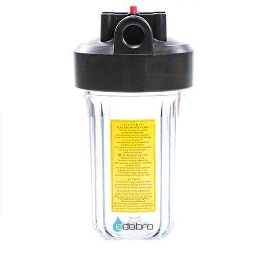 Прозрачный корпус типа Big Blue 10-OR2 для холодной воды в комплекте с креплением, шурупами и ключем