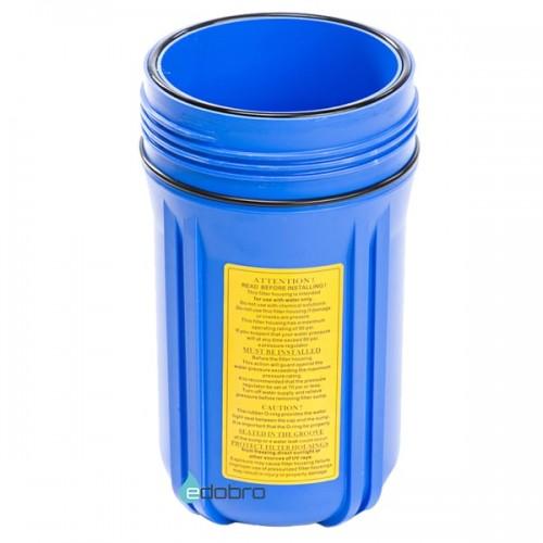 Синий корпус типа Big Blue 10-OR2 для холодной воды в комплекте с креплением, шурупами и ключем