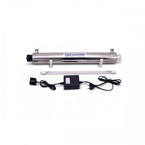 УФ обеззараживатель UV 6GPM (1,4м3/час), 25w, стальной корпус