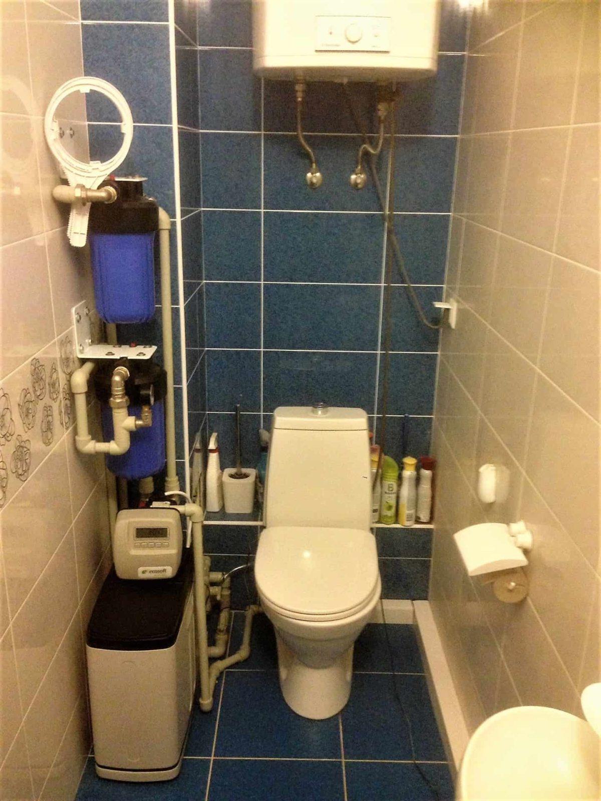 Компактный фильтр для бытовой очистки воды в квартире